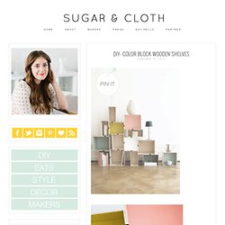 DIY: Color Block Wooden Shelves