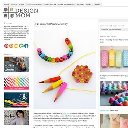 DIY: Colored Pencil Jewelry - StumbleUpon