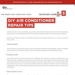 5 Air Conditioner Repair Tips You Can Do Yourself