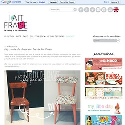 Diy : custo de chaise par Zoé de las Cases