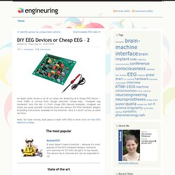 DIY EEG Devices or Cheap EEG – 2 « engineuring