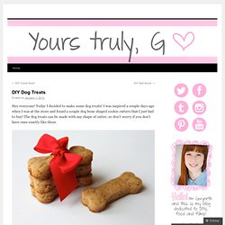 DIY Dog Treats |
