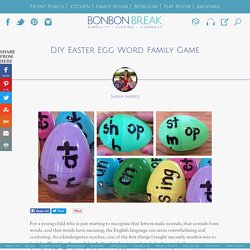 DIY Easter Egg Word Family Game