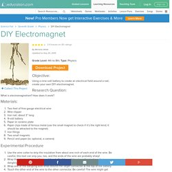 DIY Electromagnet Experiment