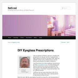 DIY Eyeglass Prescriptions