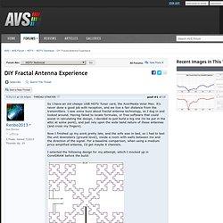 DIY Fractal Antenna Experience
