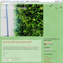 DIY Greenwalls