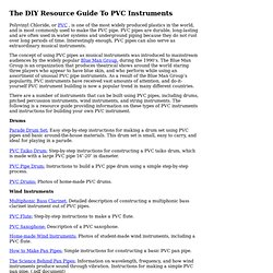 DIY Guide to PVC Instruments at zZounds