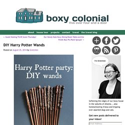 DIY Harry Potter Wands -