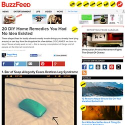 20 DIY Home Remedies You Had No Idea Existed