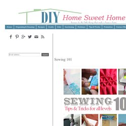 DIY Home Sweet Home: Sewing 101