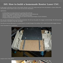 DiY. Homemade Router Laser CNC.