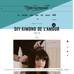 DIY KIMONO DE L'AMOUR
