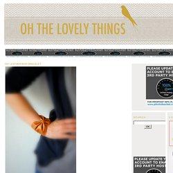Bracelet noeud en cuir