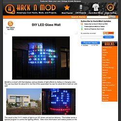 DIY LED Glass Wall