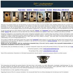 DIY-Loudspeakers