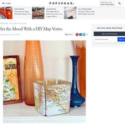 DIY Map Votive