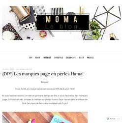 {DIY} Les marques page en perles Hama!
