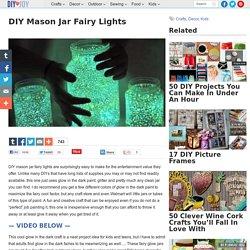 DIY Mason Jar Fairy Lights - DIY Joy