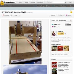 DIY MDF CNC Machine 36x22