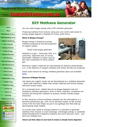 DIY Methane Generator