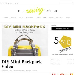 DIY Mini Backpack Sewing Video