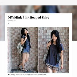 DIY: Mink Pink Beaded Shirt