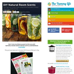 DIY Natural Room Scents