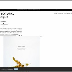 DIY NATURAL SCRUB – Cocorrina