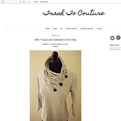 DIY: V-neck into Gathered Cowl Collar