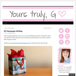 DIY Newspaper Gift Bag |