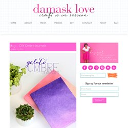 DIY Ombre Journals - Damask Love