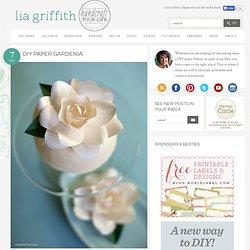 DIY Paper Gardenia