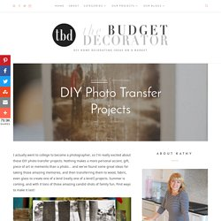 DIY Photo Transfer Projects