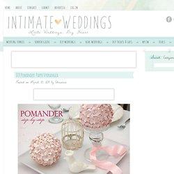 DIY Pomander: Paper Hydrangea