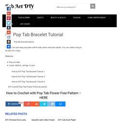 DIY Pop Tab Bracelet Tutorial