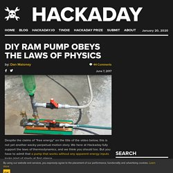 DIY Ram Pump Obeys The Laws Of Physics