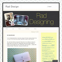 DIY Recipe Box | Rad Design