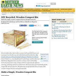 DIY Recycled, Wooden Compost Bin