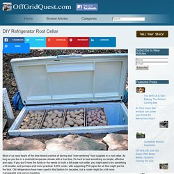DIY Refrigerator Root Cellar