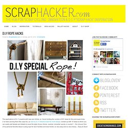 DIY Rope Hacks - DIY Ideas