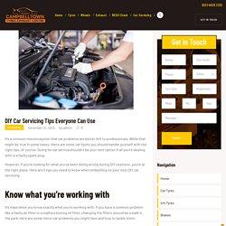 DIY Car Servicing Tips Everyone Can Use