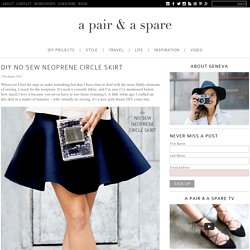 DIY NO SEW NEOPRENE CIRCLE SKIRT