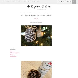 DIY: Snow Pinecone Ornament