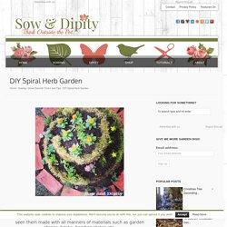 DIY Spiral Herb Garden -