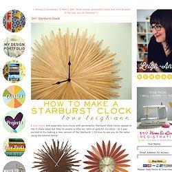 DIY: Starburst Clock