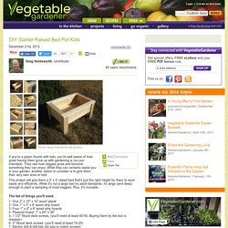 DIY Starter Raised Bed For Kids