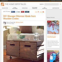 DIY Storage Ottoman - The Home Depot