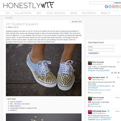 DIY Studded Sneakers + Vans Giveaway