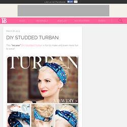 DIY Studded Turban